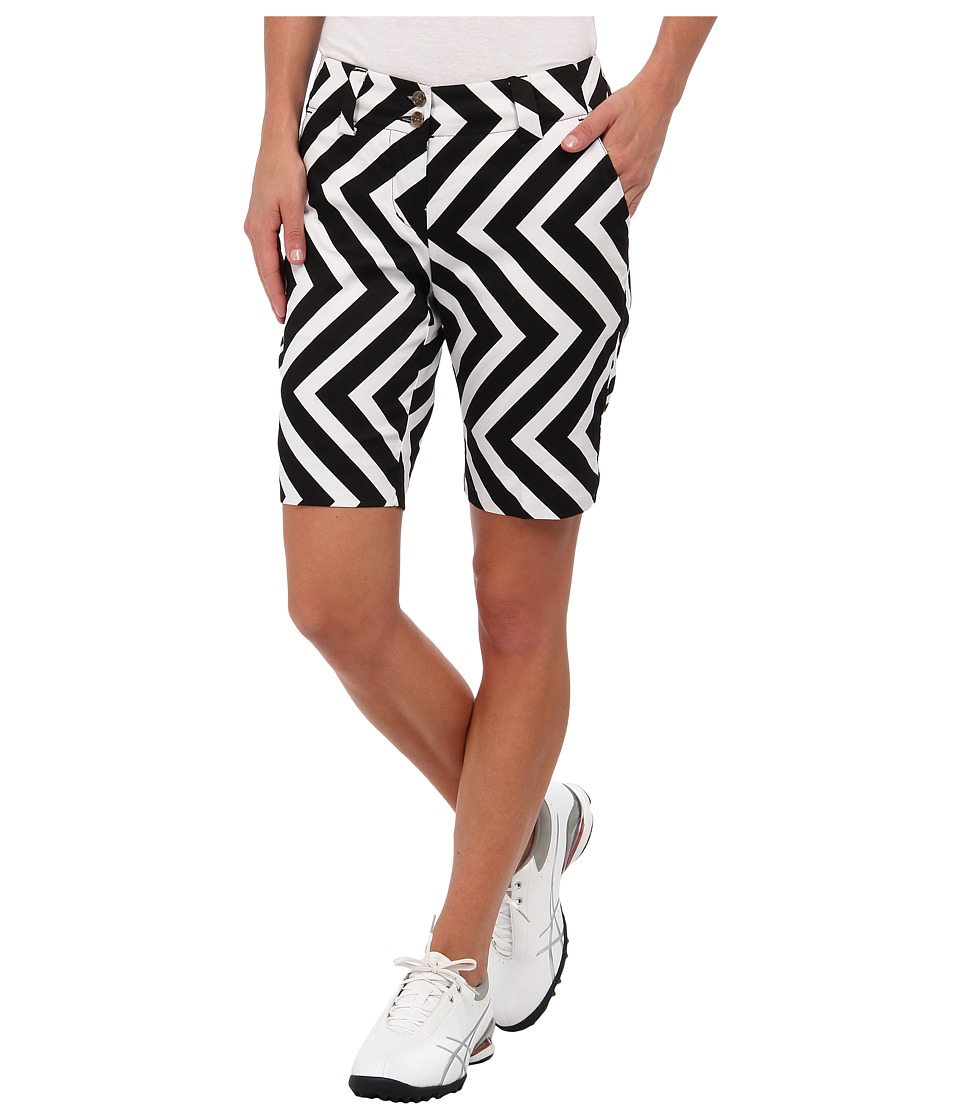 Loudmouth Golf - Daktari Short (Black/White) Women's Shorts