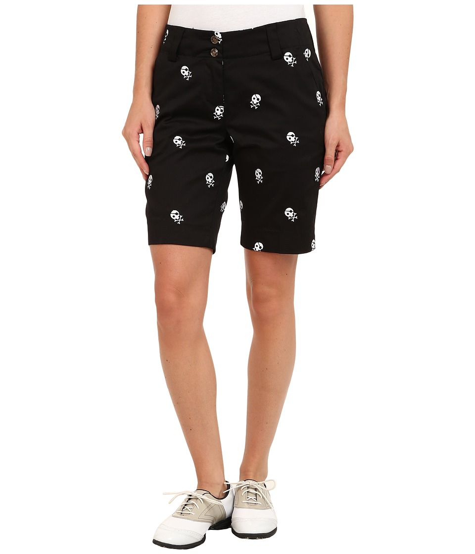Loudmouth Golf - Skully Short (Black/White) Women's Shorts