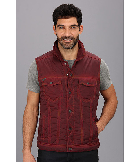 Silver Jeans Co. - Quilted Vest (Ox Blood) Men's Vest
