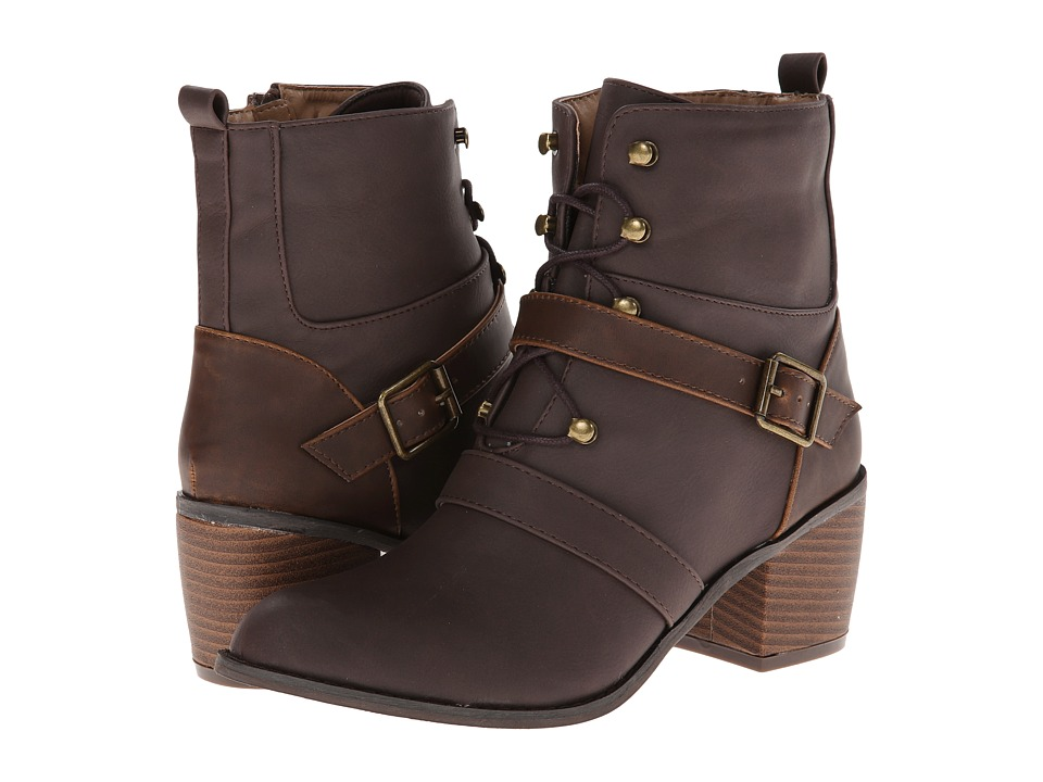 Michael Antonio - Menlow (Brown Heavy PU) Women's Boots