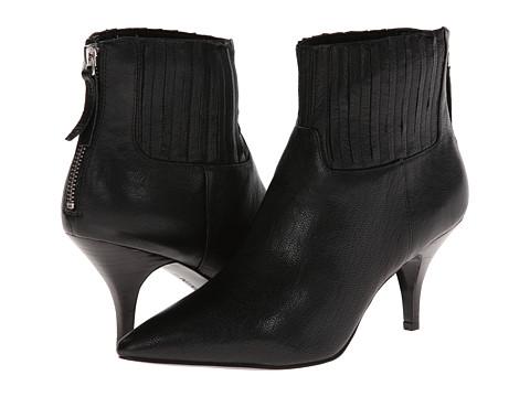 Nine West - Elliemae (Black Leather) High Heels