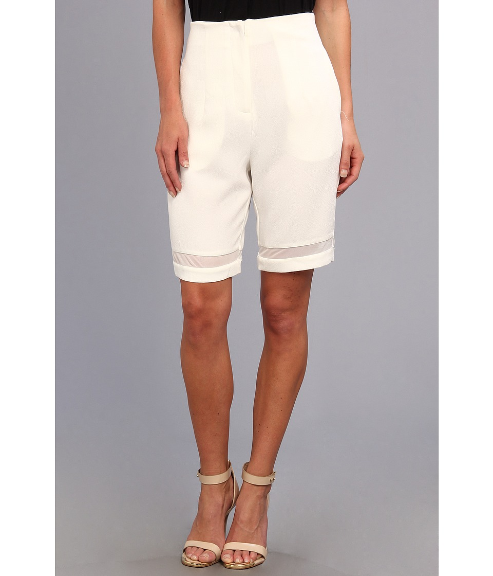 Christin Michaels - Christa High Waisted Bermuda Short (White) Women's Shorts
