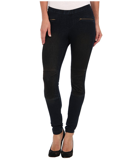 HUE - Moto Jean Legging (Biker Dark) Women's Casual Pants