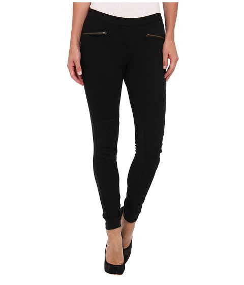 HUE - Moto Jean Legging (Black) Women's Casual Pants