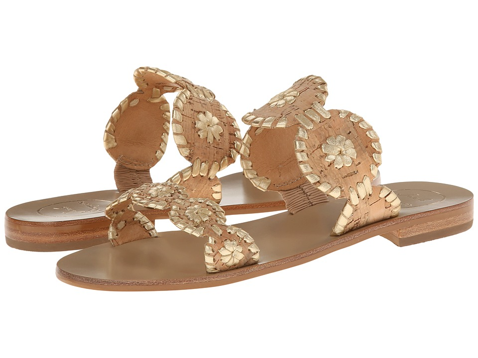 Jack Rogers - Lauren (Gold/Cork) Women's Slide Shoes
