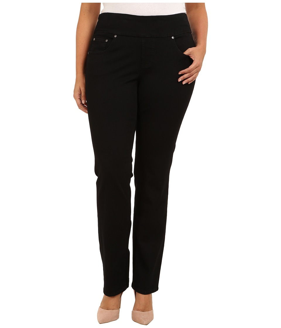 Jag Jeans Plus Size - Plus Size Peri Pull-On Straight Heritage Twill (Black) Women