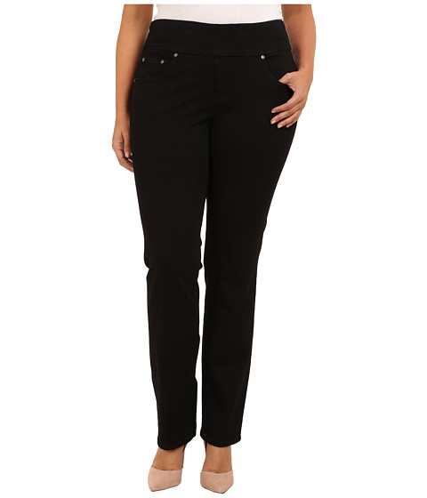 Jag Jeans Plus Size - Plus Size Peri Pull-On Straight Heritage Twill (Black) Women's Clothing