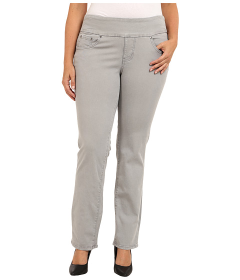 Jag Jeans Plus Size - Plus Size Peri Pull-On Straight Heritage Twill (Grey Fog) Women's Clothing