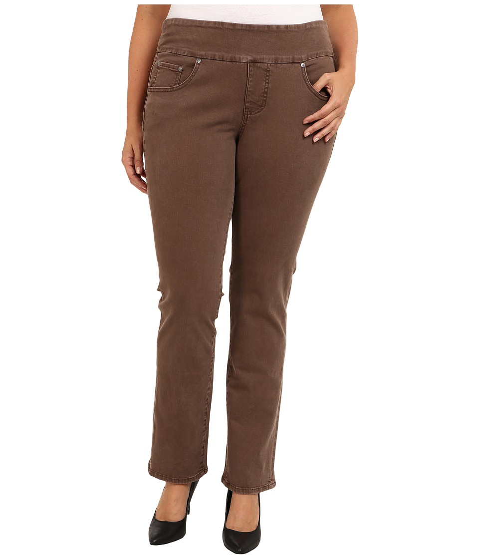Jag Jeans Plus Size - Plus Size Peri Pull-On Straight Heritage Twill (Truffle) Women's Clothing