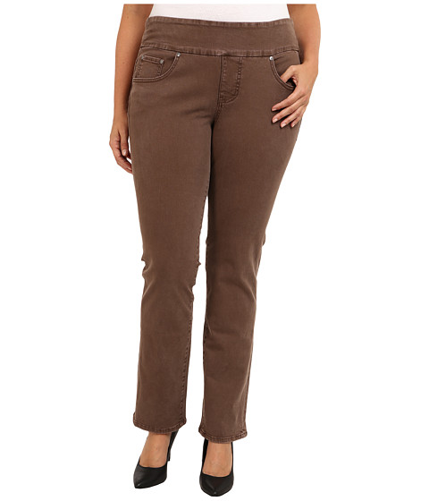 Jag Jeans Plus Size - Plus Size Peri Pull-On Straight Heritage Twill (Truffle) Women