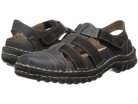 Lobo Solo - Tylor (Black Leather) Men's Sandals