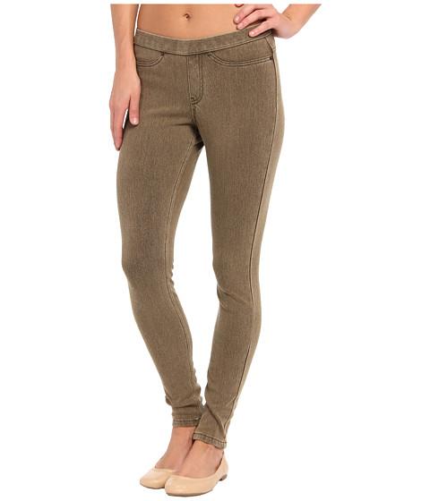 HUE - Original Jeanz Legging (Taupe Wash) Women's Casual Pants