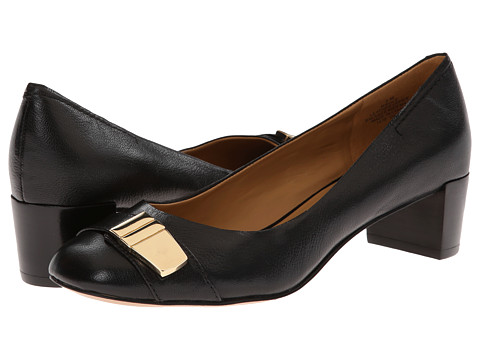Nine West - Ole (Black Leather) Women's 1-2 inch heel Shoes