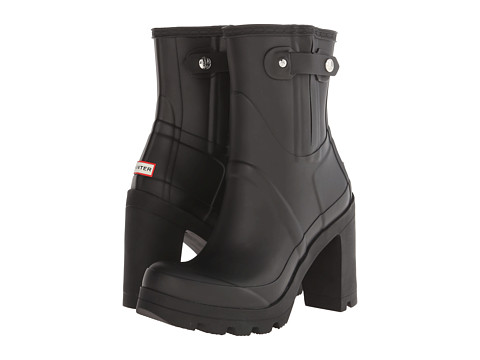 Hunter - Original High Heel (Black) Women's Rain Boots