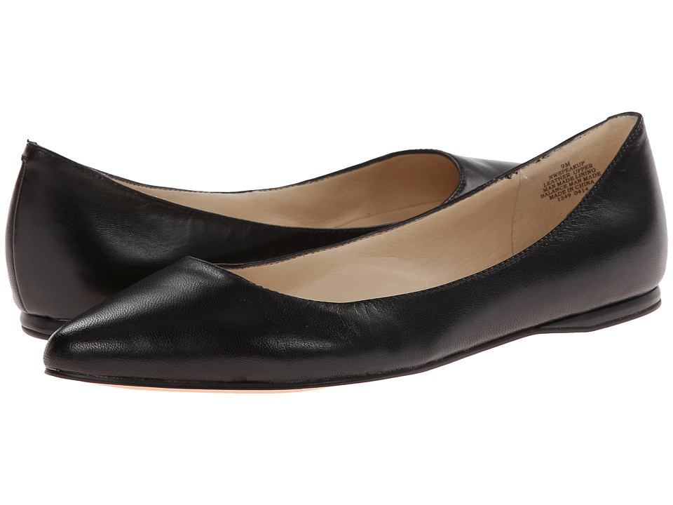 Nine West - SpeakUp (Black Leather) Women's Dress Flat Shoes
