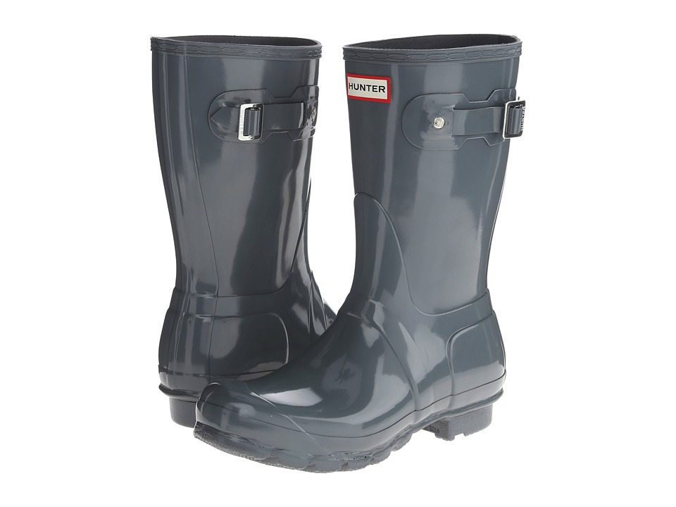 Hunter - Original Short Gloss (Graphite Gloss) Women's Rain Boots