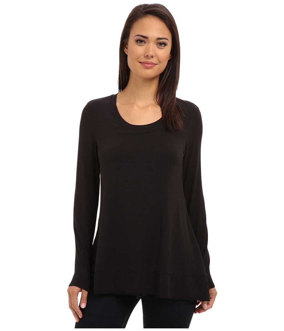 Lysse - Scoop Drape Top w/ BackBeautiful (Black) Women's Clothing