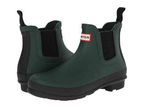 Hunter - Original Two-Tone Chelsea (Forest Green) Women's Boots