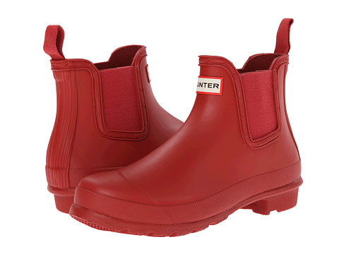 Hunter - Original Two-Tone Chelsea (Military Red) Women's Boots