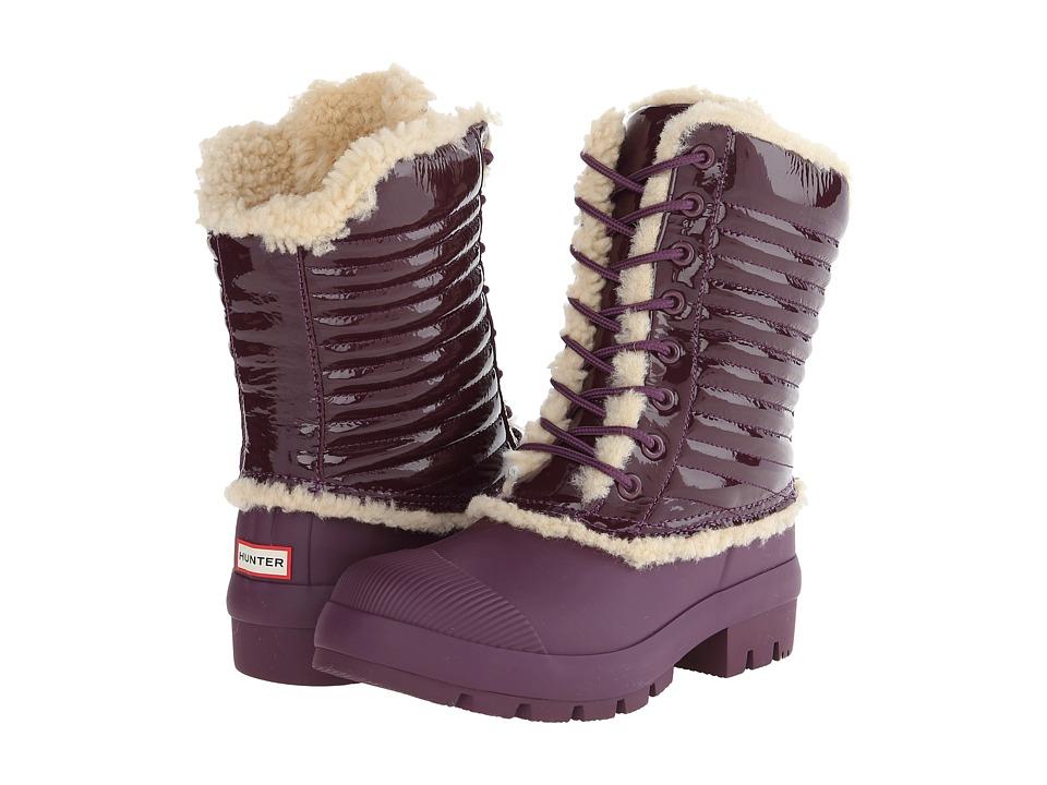 Hunter - Original Patent Pac Boot (Bright Plum) Women's Boots
