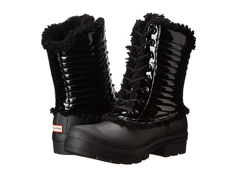 Hunter - Original Patent Pac Boot (Patent Black) Women's Boots