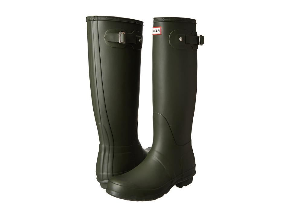 Hunter - Original Tall Rain Boots (Dark Olive) Women's Rain Boots