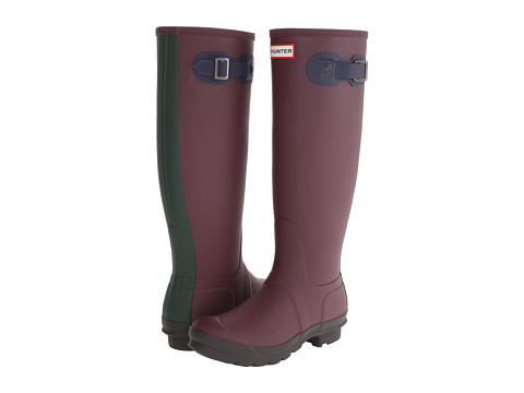 Hunter - Original Contrast (Bright/Midnight/Forest Green/Dark Chocolate) Women's Rain Boots