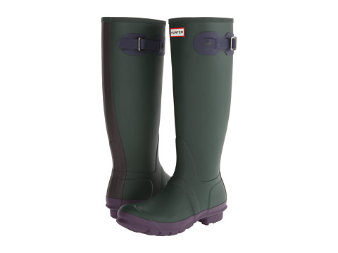 Hunter - Original Contrast (Forest Green/Midnight/Dark Chocolate) Women's Rain Boots
