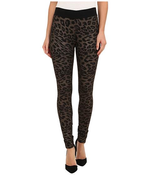 HUE - Animal Print Ponte Leggings (Leopard) Women
