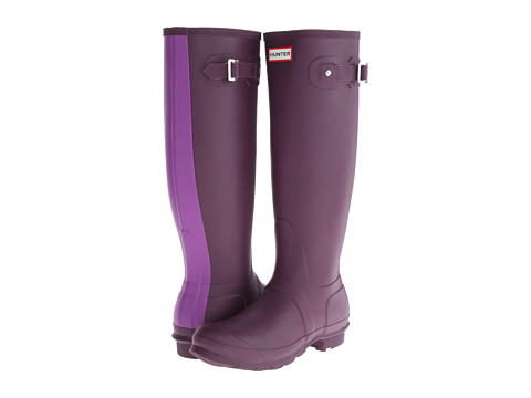 Hunter - Original Stripe (Bright Plum) Women's Rain Boots