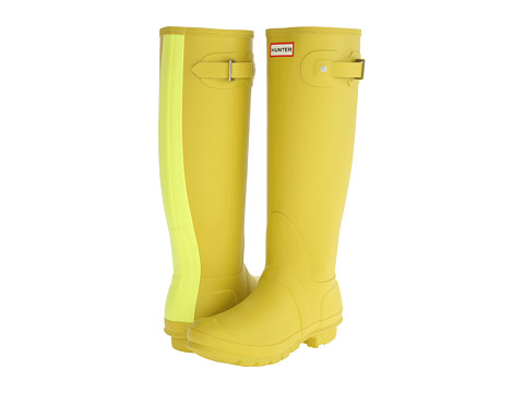 Hunter - Original Stripe (Yellow Chartreuse) Women's Rain Boots