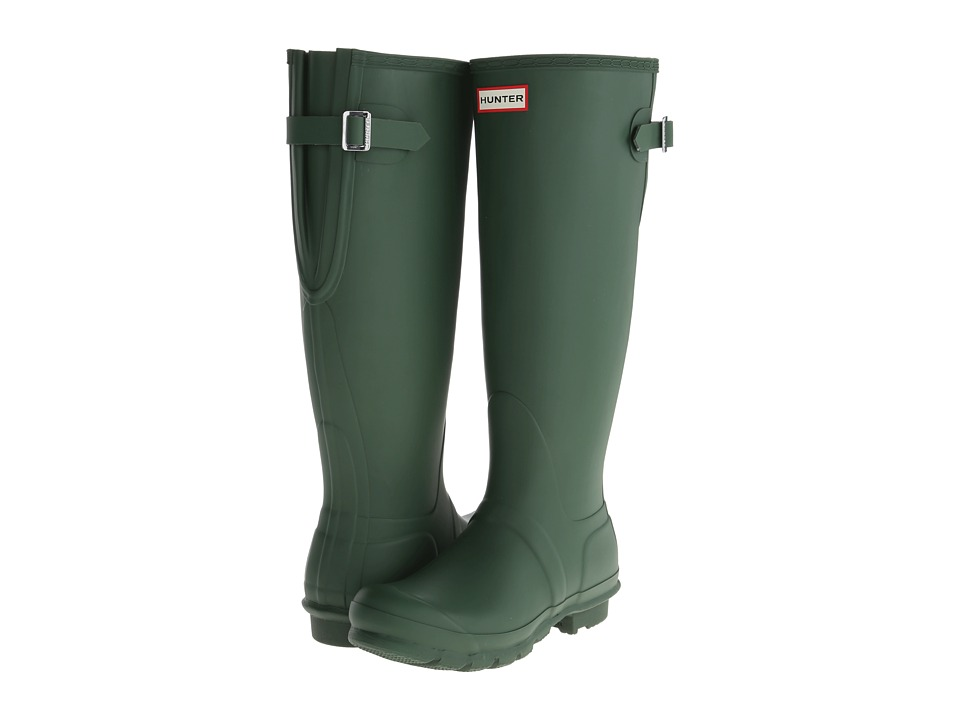 Hunter - Original Back Adjustable (Green) Women's Rain Boots