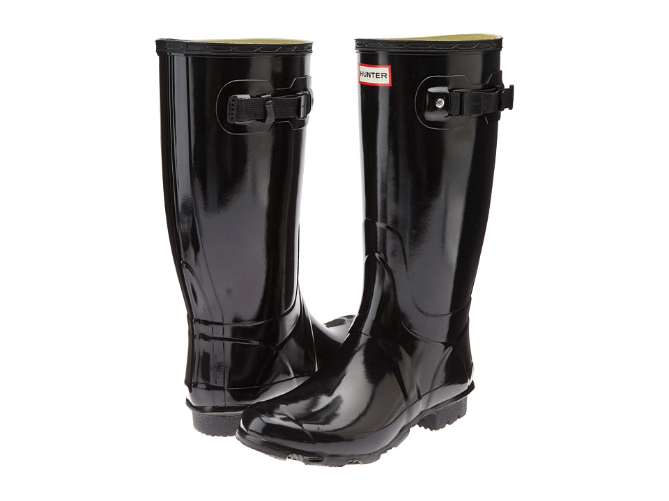 Hunter - Huntress Gloss (Black Gloss) Women's Rain Boots