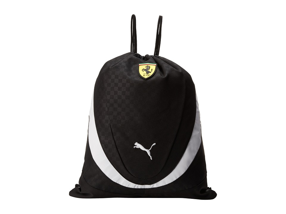 PUMA - Ferrari Replica Gym Sack (Black) Backpack Bags