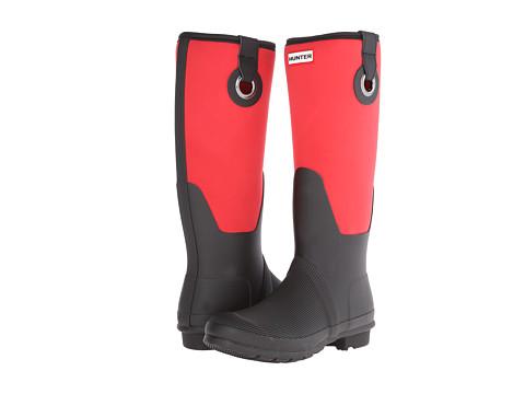 Hunter - Original Scuba Neo Leg-Eyelet (Bright Coral) Women's Rain Boots