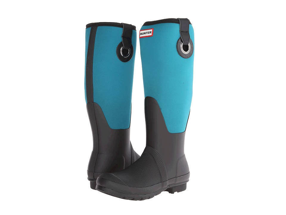 Hunter - Original Scuba Neo Leg-Eyelet (Bright Peacock) Women's Rain Boots