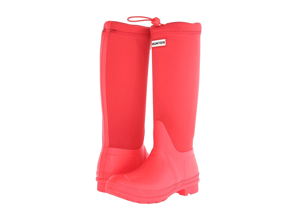 Hunter - Original Tour Neoprene (Bright Coral) Women's Rain Boots