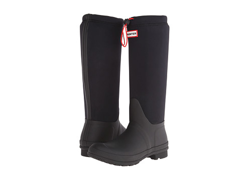 Hunter - Original Tour Neoprene (Black) Women's Rain Boots