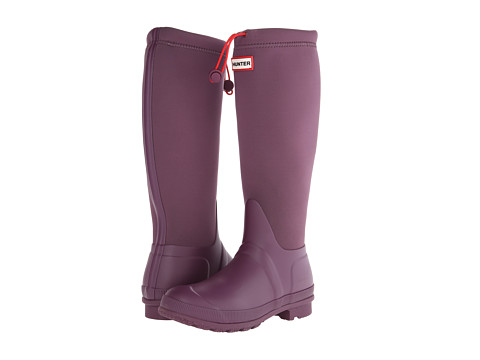 Hunter - Original Tour Neoprene (Bright Plum) Women's Rain Boots