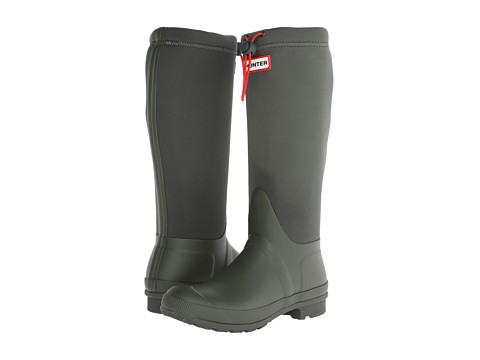 Hunter - Original Tour Neoprene (Dark Olive) Women's Rain Boots