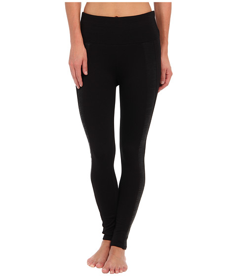 Spanx - Ready-to-Wow! Snakeskin Stripe Leggings (Black) Women's Casual Pants