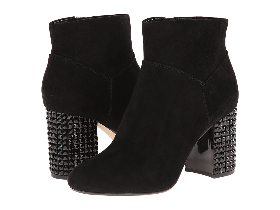 MICHAEL Michael Kors - Arabella Ankle Boot (Black Kid Suede/Jet) Women's Pull-on Boots