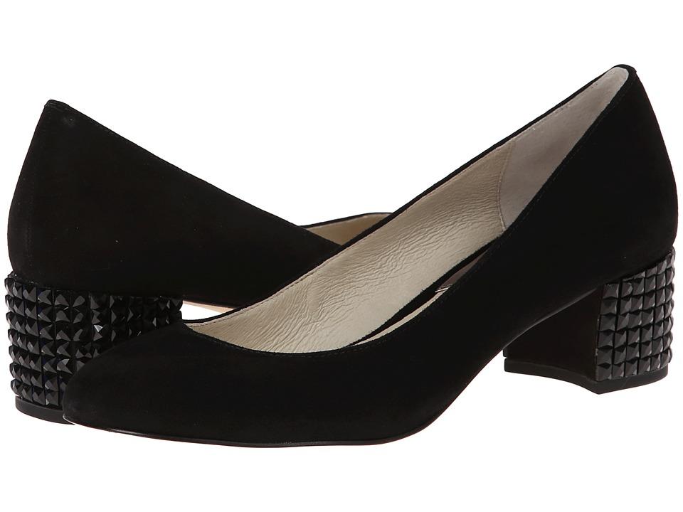 MICHAEL Michael Kors - Arabella Kitten Pump (Black Kid Suede/Jet) Women's Slip on Shoes