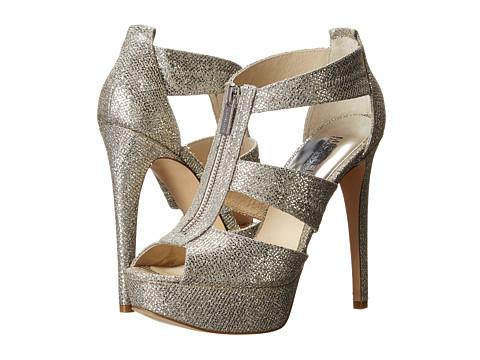 MICHAEL Michael Kors - Berkley Platform (Silver Glitter) Women's 1-2 inch heel Shoes