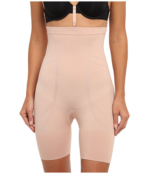 Spanx - Slim Cognito High-Waisted Mid-Thigh (New Slimproved!) (Rose Gold) Hose