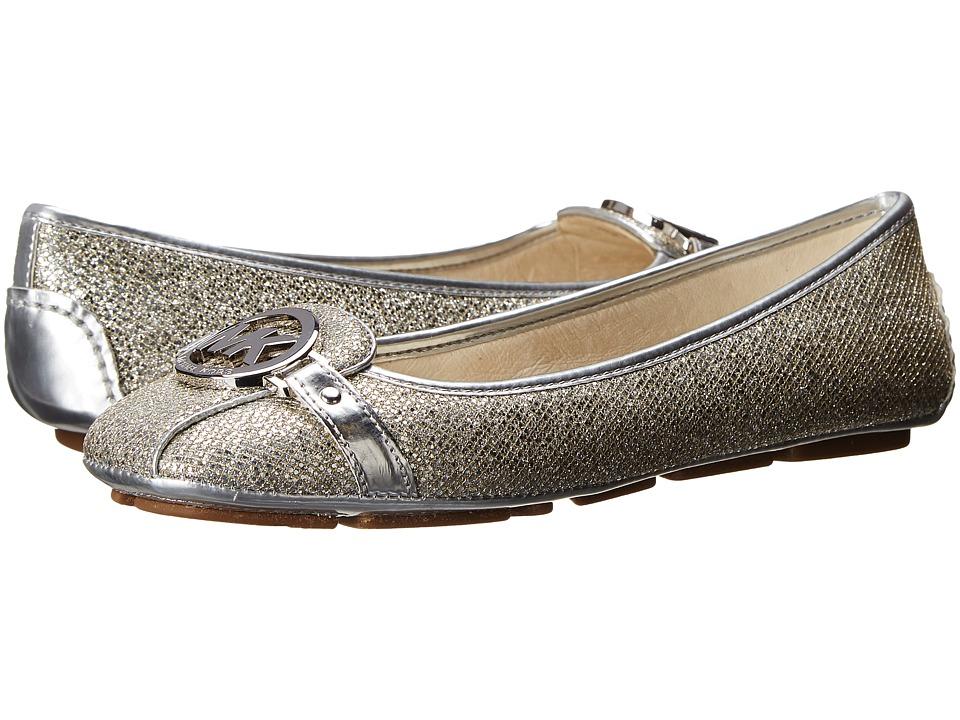 MICHAEL Michael Kors - Fulton Moc (Silver Glitter/Mirror Metallic) Women's Flat Shoes