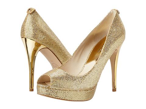 MICHAEL Michael Kors - York Platform (Gold Glitter) High Heels