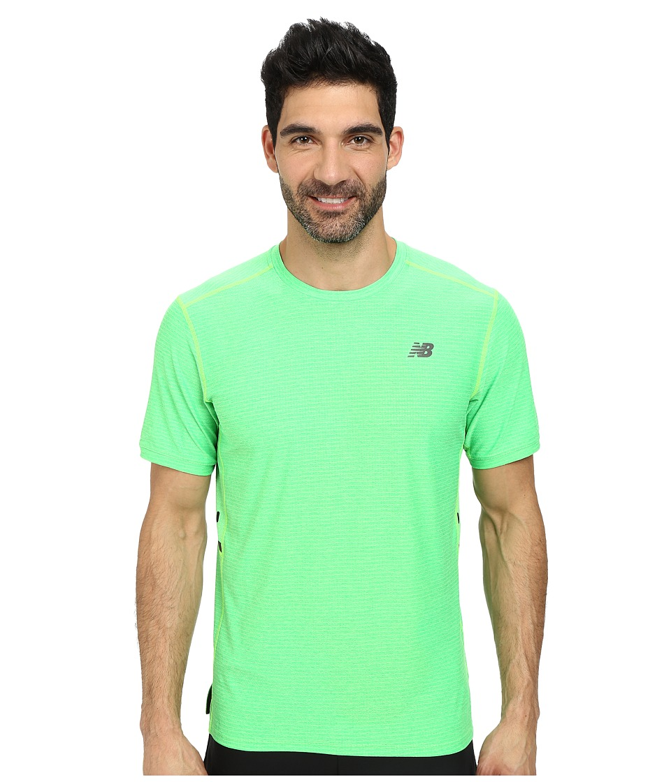 New Balance - Shift Short Sleeve Top (Chemical Green Heather) Men's Short Sleeve Pullover