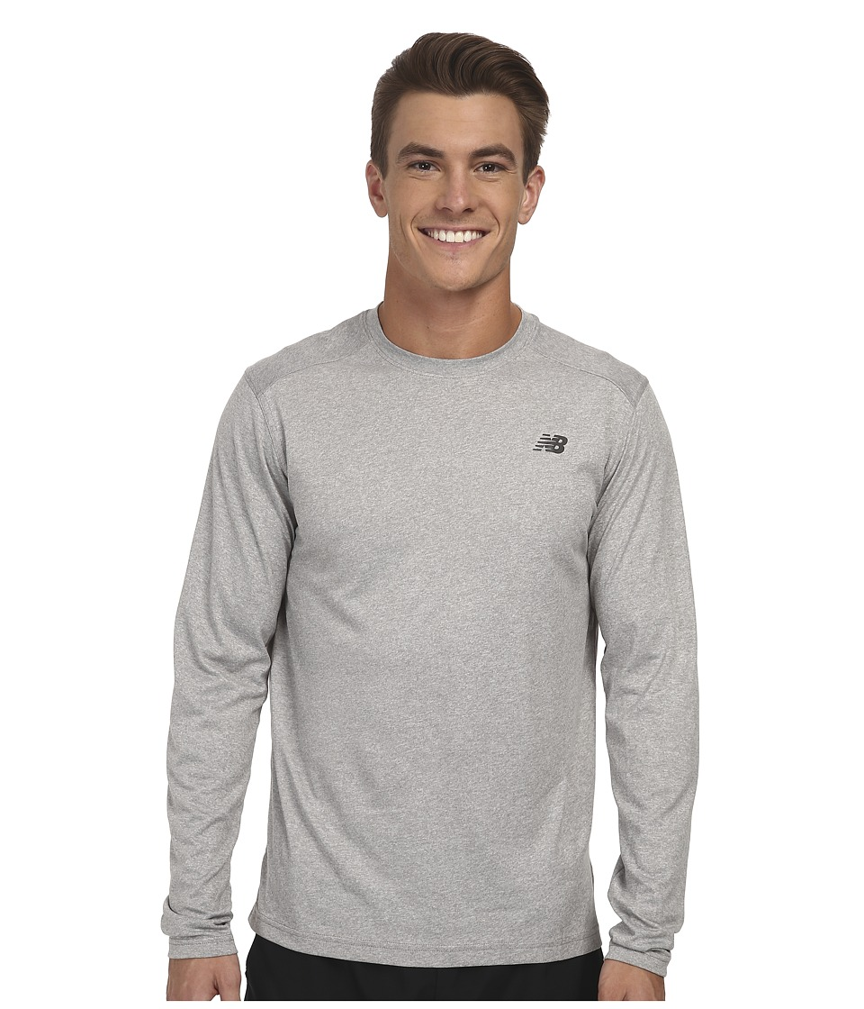 New Balance - L/S Heather Tech Tee (Athletic Grey) Men's Long Sleeve Pullover