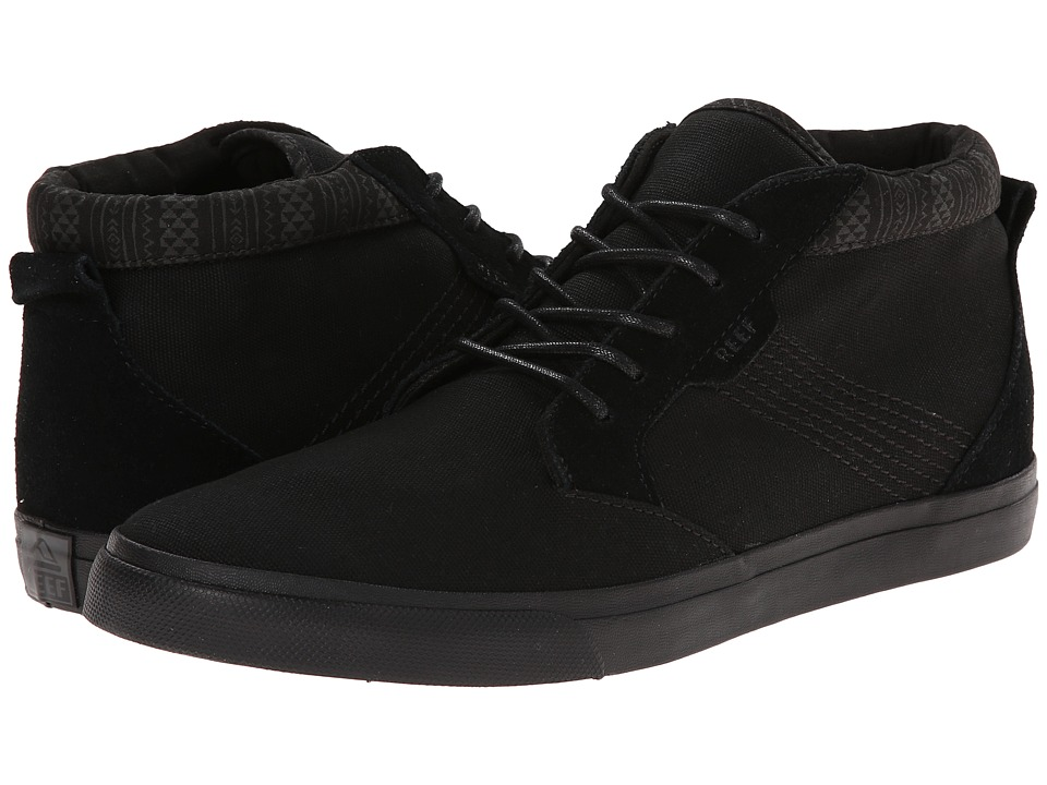 Reef - Outhaul (Black/Black) Men's Lace up casual Shoes